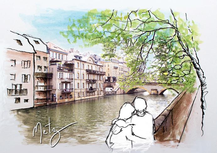 Le Canal aux amoureux Metz