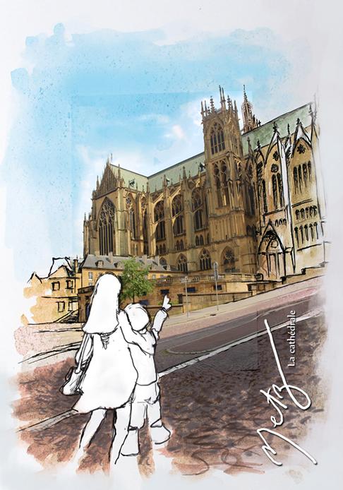 Cathédrale et enfants Metz