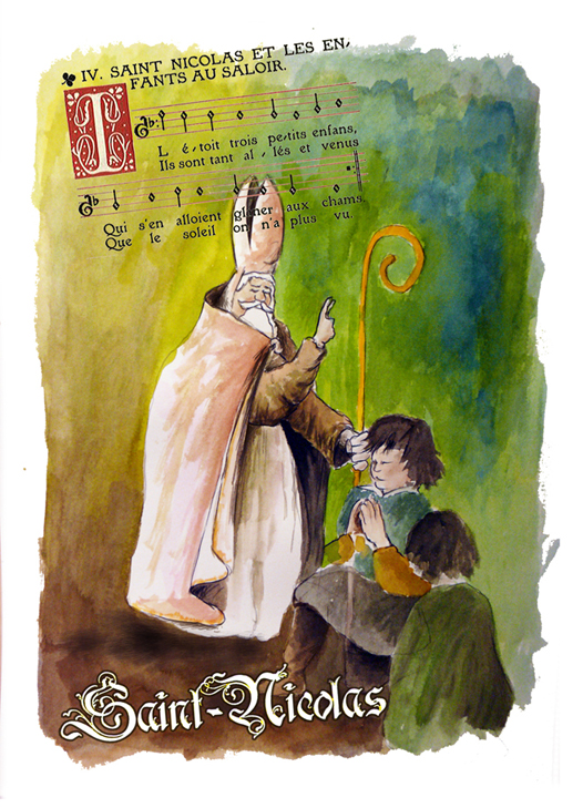 Saint Nicolas et chanson