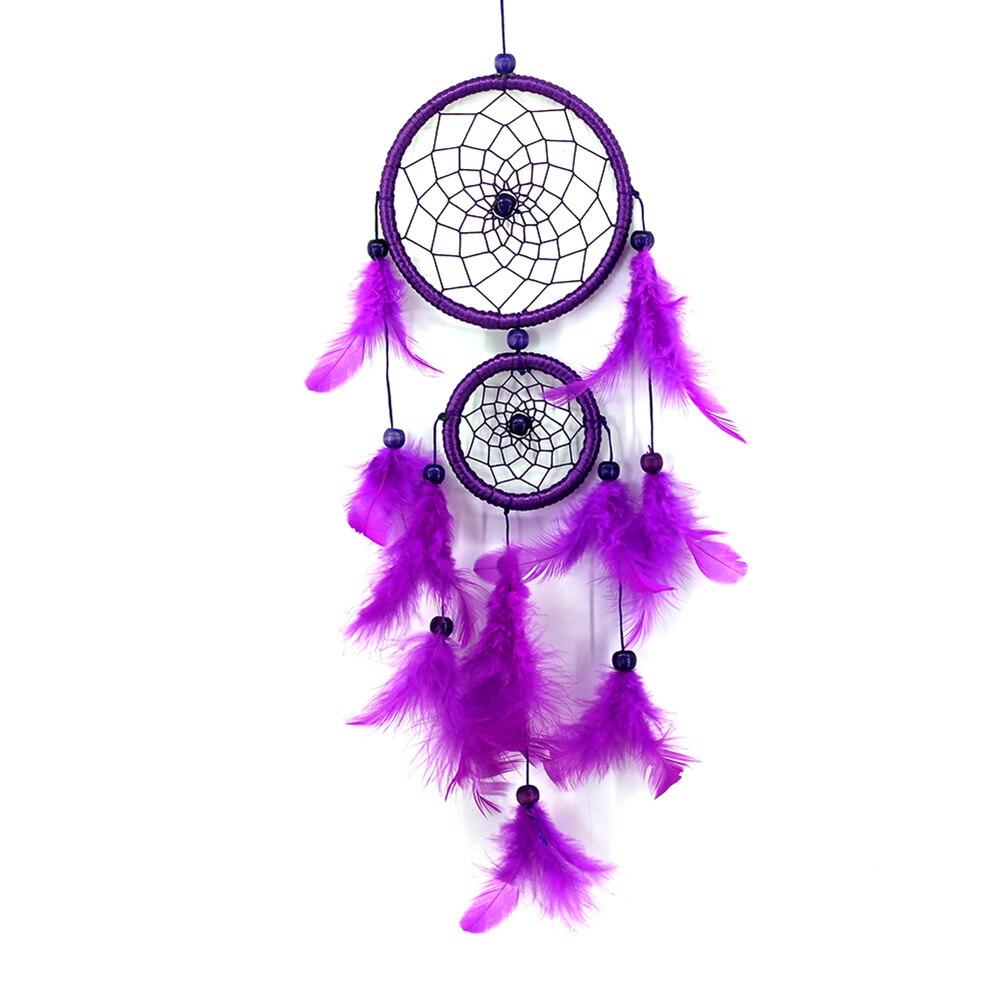 Attrape rêve Indien - Plumes - Violet