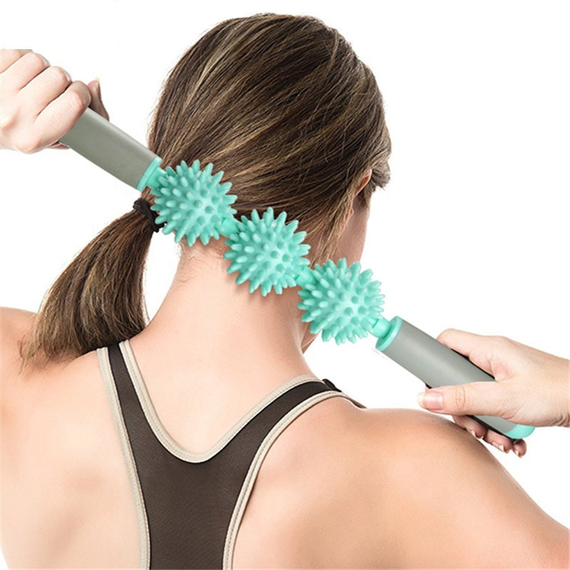 Bâton de yoga - Rouleau de Massage avec Picots - 6 Couleurs