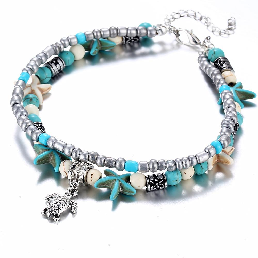Bracelet de Cheville - Multi-couche - Bohème - Fait à la main