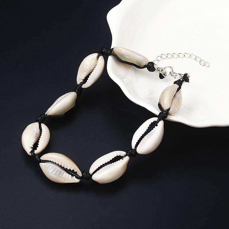 Bracelet de Cheville - 8 Cauris - Porte - Bonheur