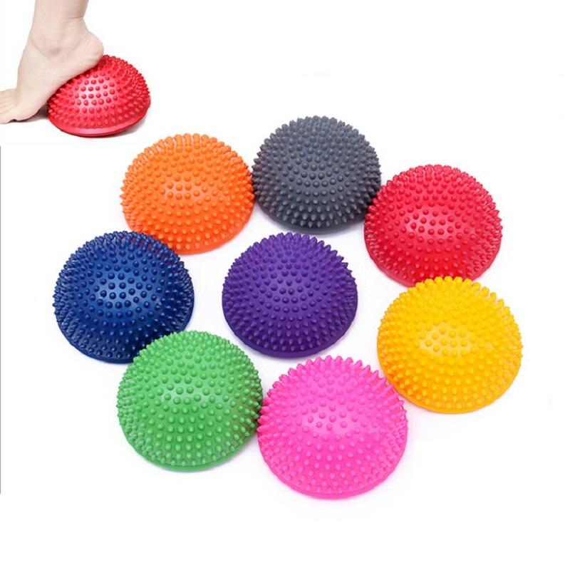 Ballon de yoga avec des picots - Entrainement - équilibre ou massage - 16 cm