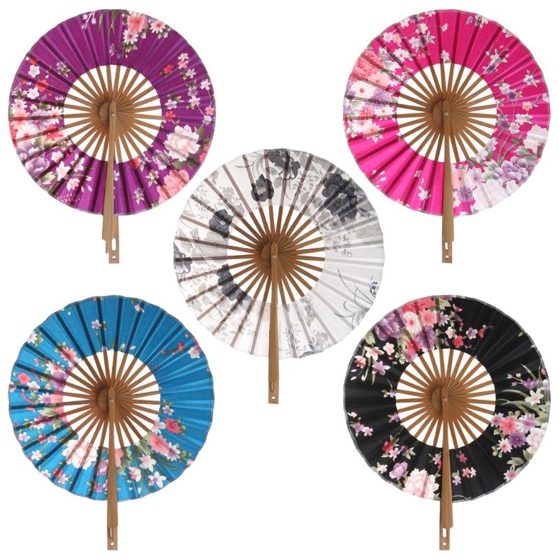 Eventail Japonais Fleur de Sakura - Bambou et Tissu