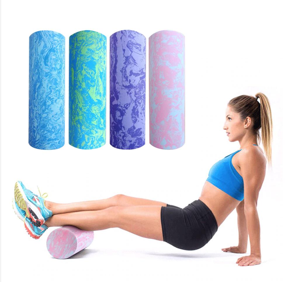 Rouleau de Yoga - En Mousse Pleine - 45-60 CM - 7 motifs au choix