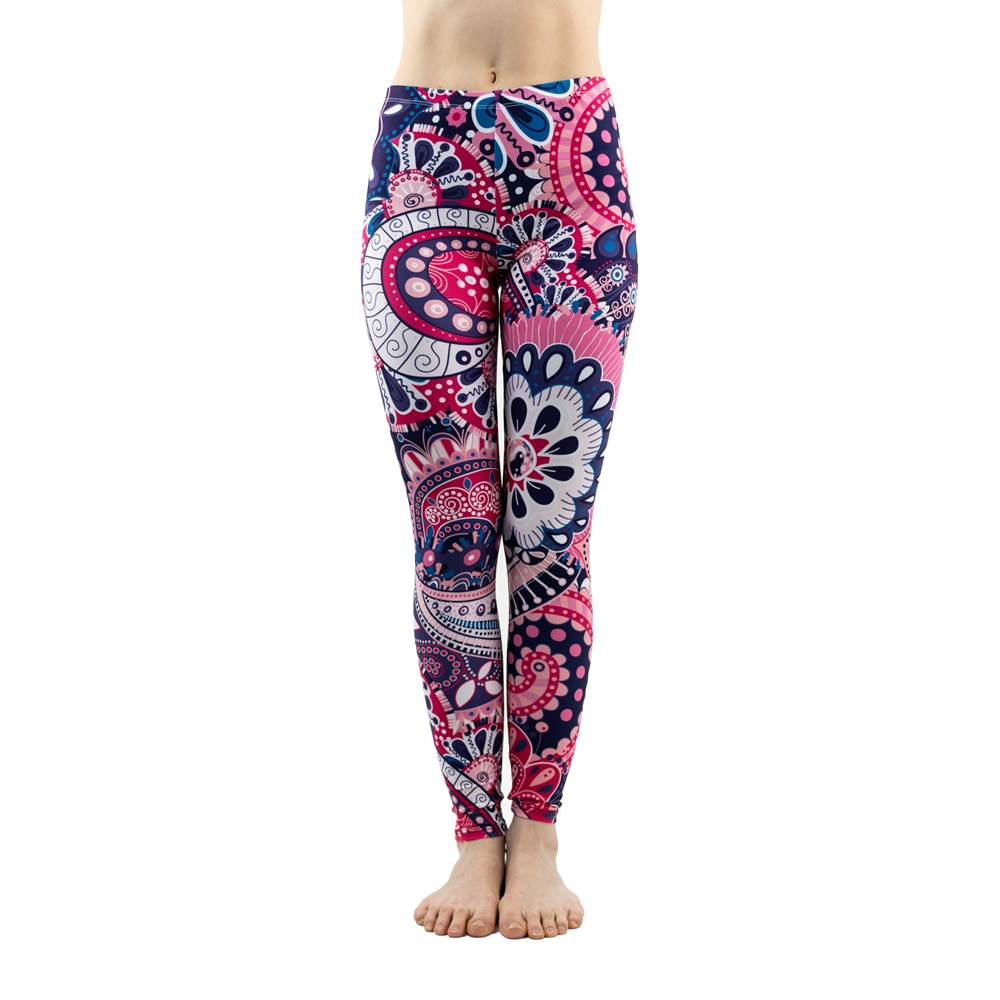 Legging Mandala - Yoga - Violet - Taille Unique
