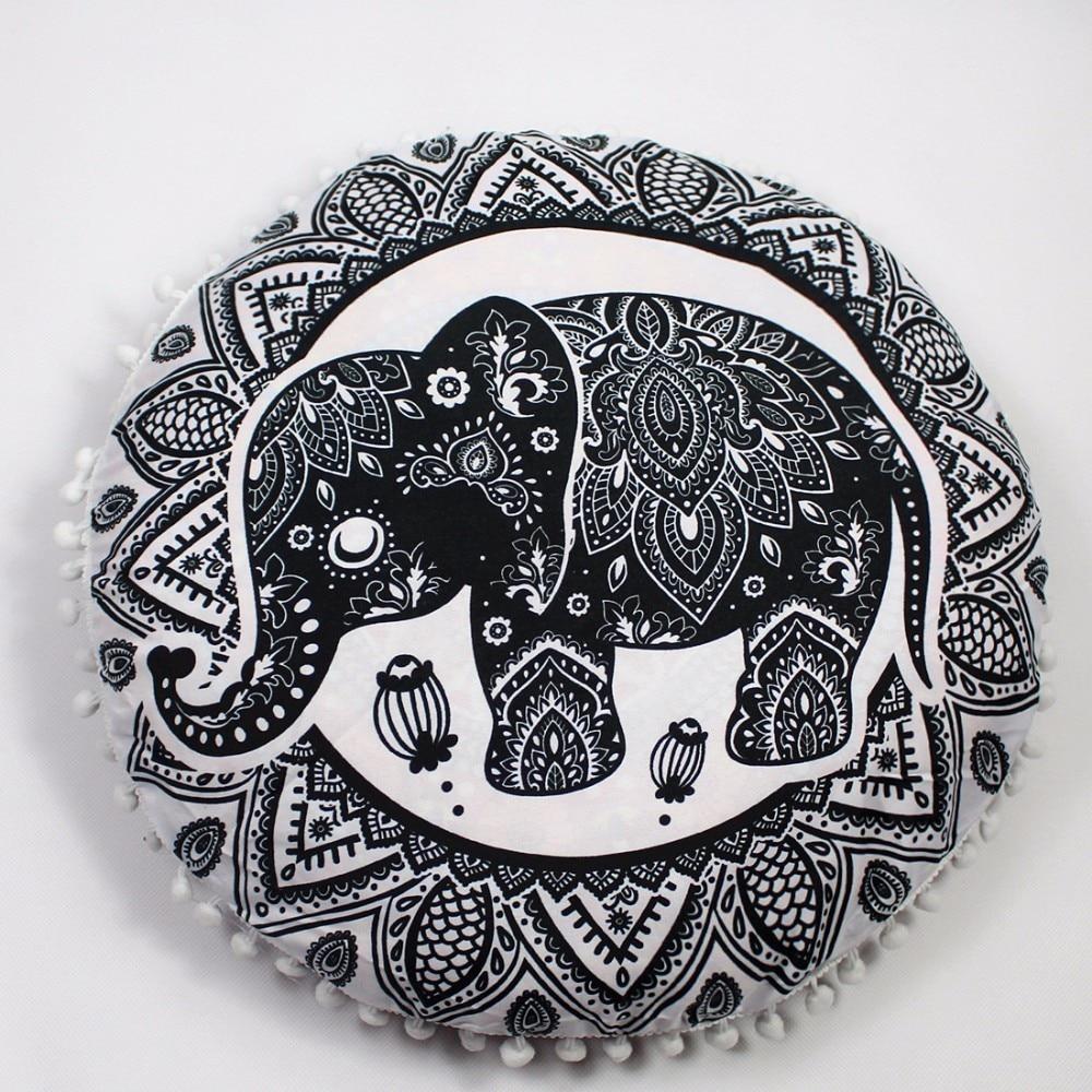 Pouf de méditation rond - Motifs Mandala - 15 Styles au choix - 43 cm
