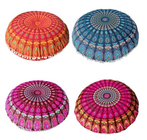 Housse de coussin Mandala - Pour Pouf de méditation rond - 80 CM