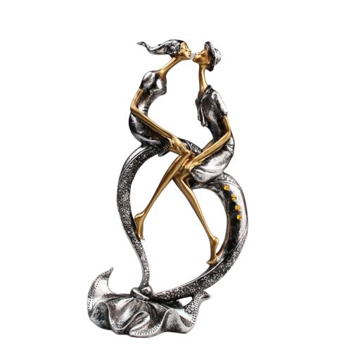Figurine de décoration - Statue Baiser des Amoureux