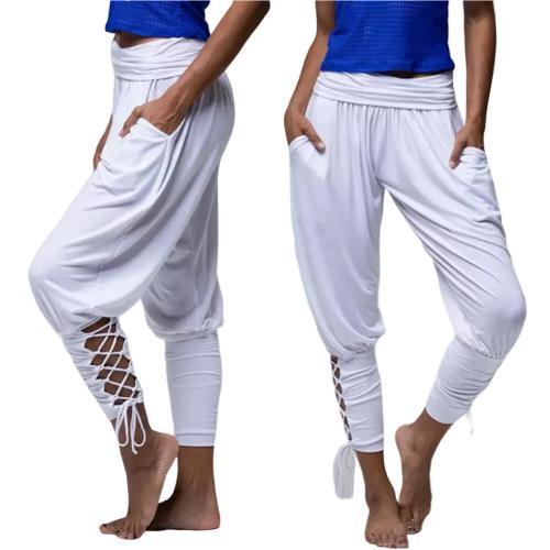 Pantalon de Yoga avec Lacets - S au 2XL - 6 couleurs au choix