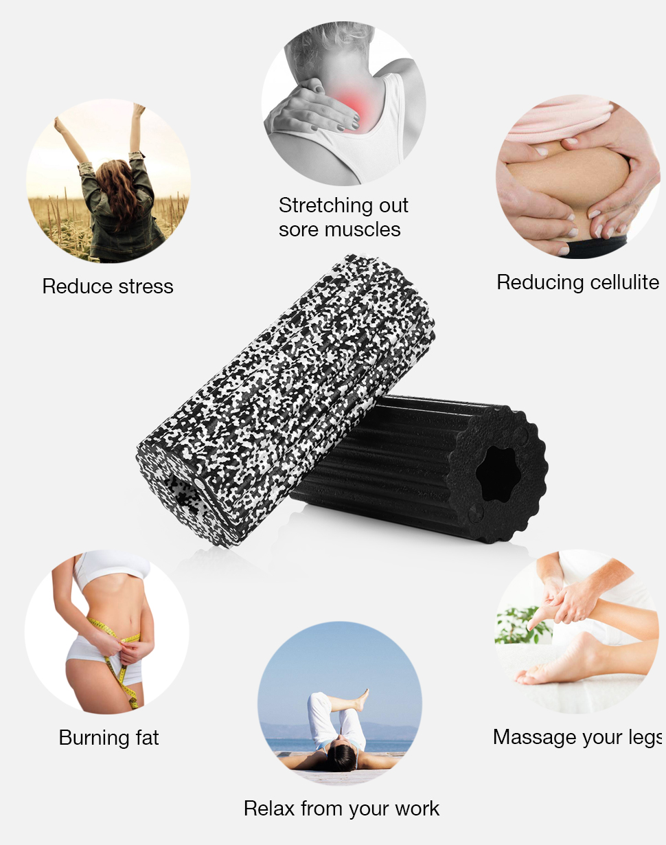 Rouleau de Yoga - En Mousse creuse - 32 CM