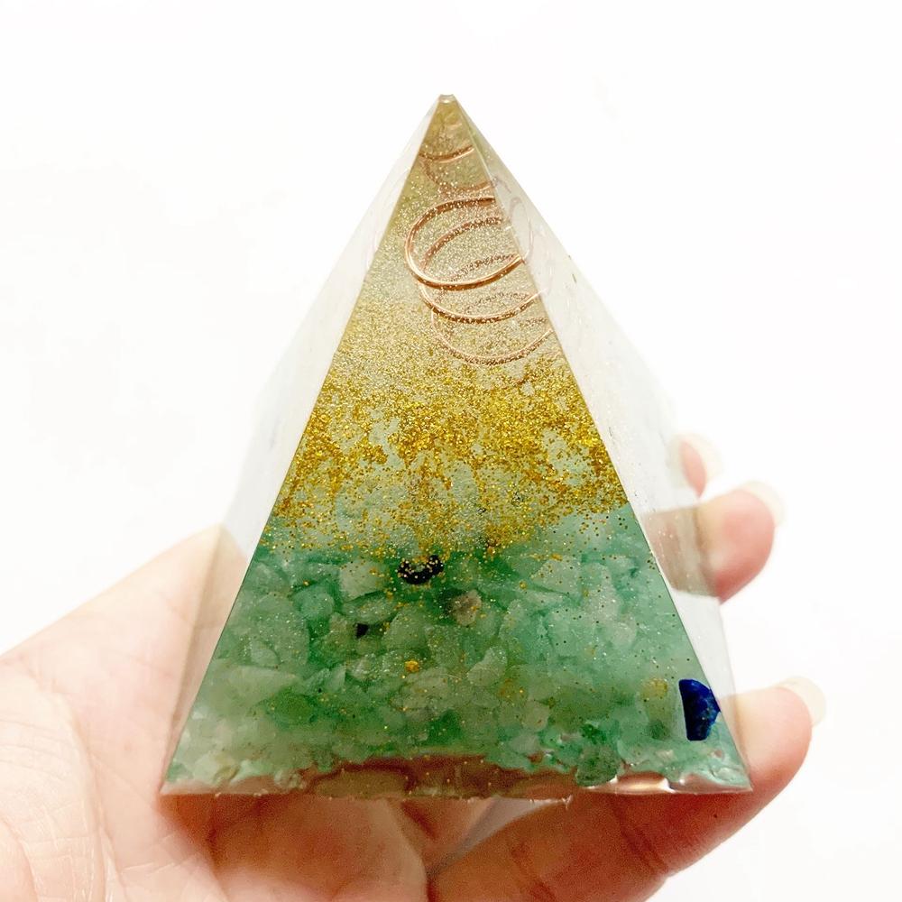 Pyramide de Protection - Maison et Corps - Aventurine verte
