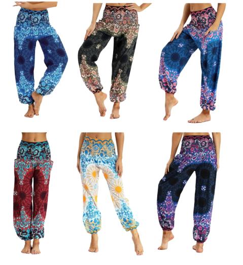 Pantalon de Yoga - Imprimés Nepal - Taille unique - 6 Motifs au choix