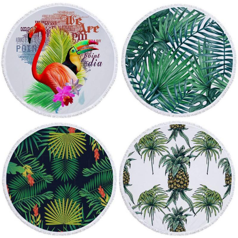 Serviette ronde - Inspiration Tropicale - 5 Motifs au choix