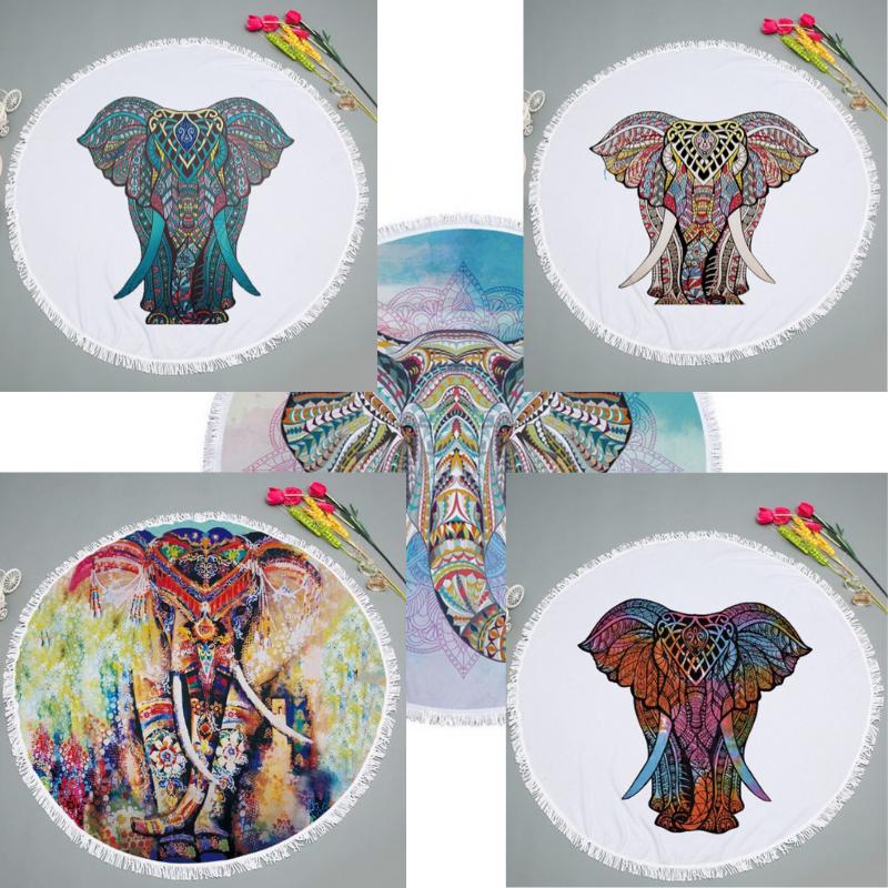 Serviette ronde - Indien Eléphant Ganesh