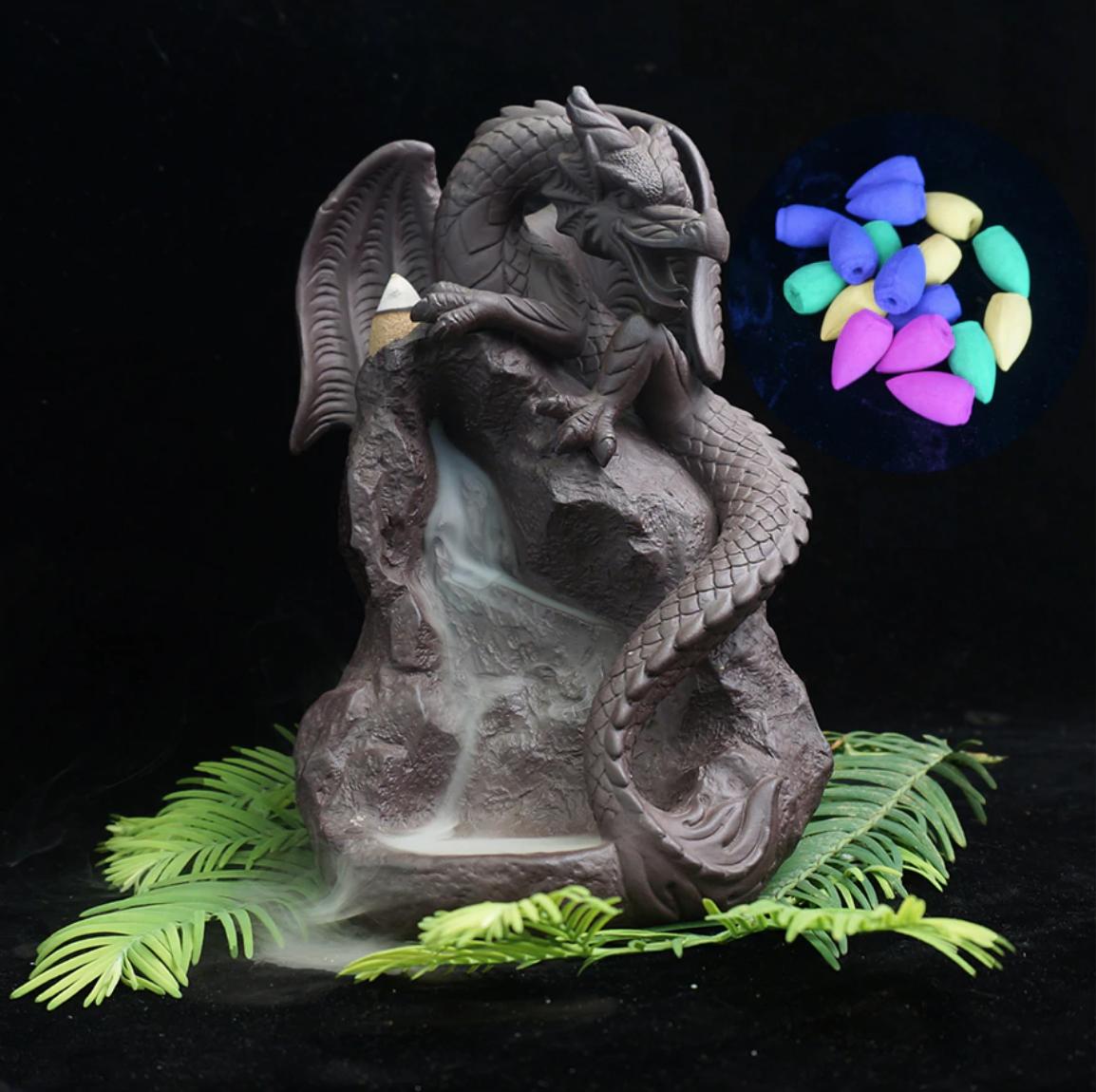 Brûleur pour encens en céramique - Dragon