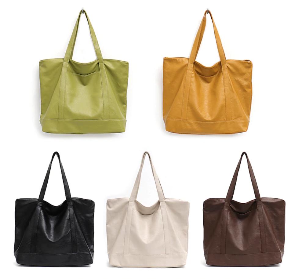 Grand sac cabas fourre-tout - Cuir Vegan