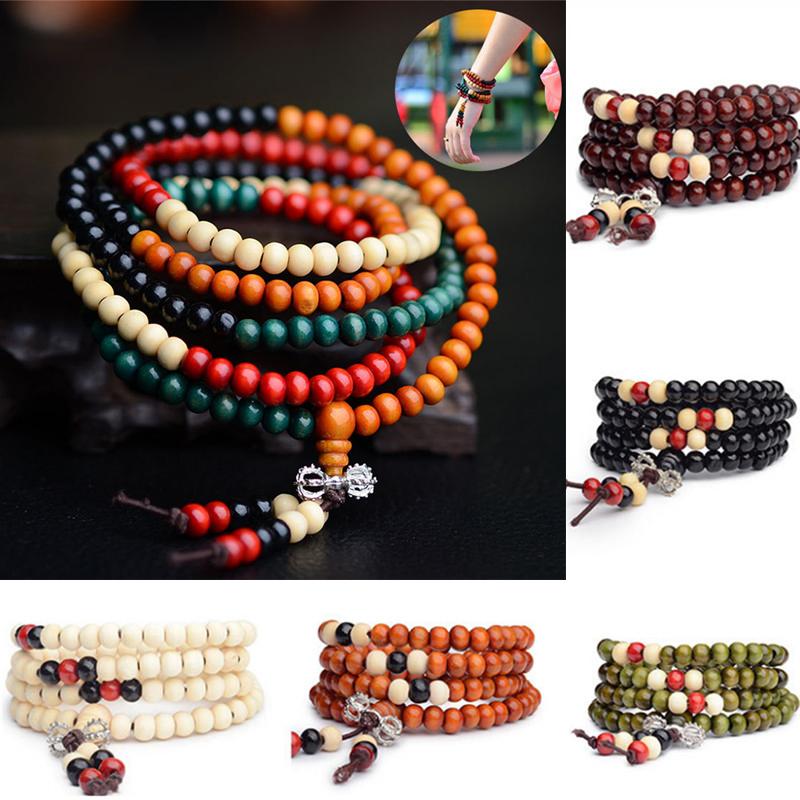 AMAYA - Bracelet mala en bois de santal naturel - 108 perles