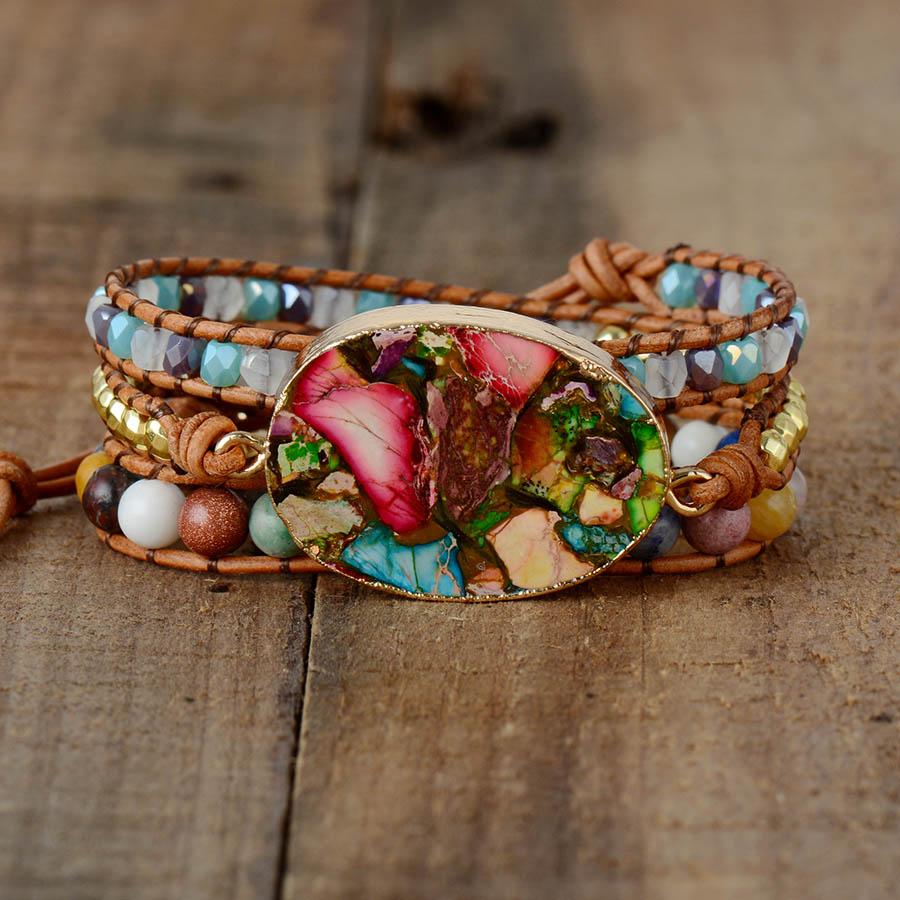 DIVINE - Bracelet en pierre de Jaspe - Sécurité et confiance en soi