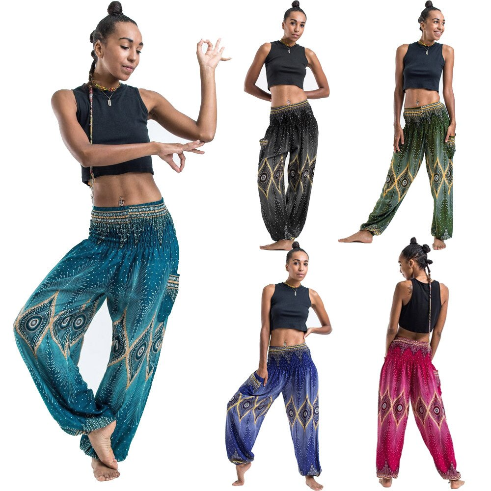 Pantalon de méditation en coton -  Hippie chic - Passion yoga
