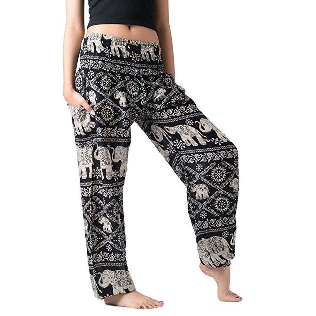 Pantalon Bohème Hindou - Noir et Blanc