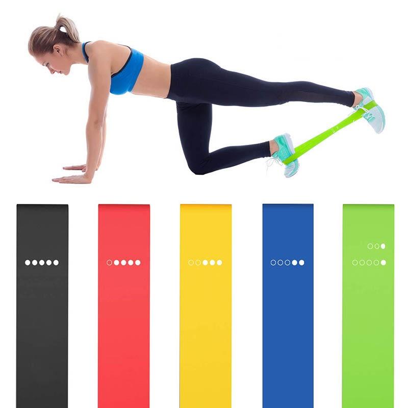 Lot de 5 bandes de résistance en Latex - Yoga et Musculation