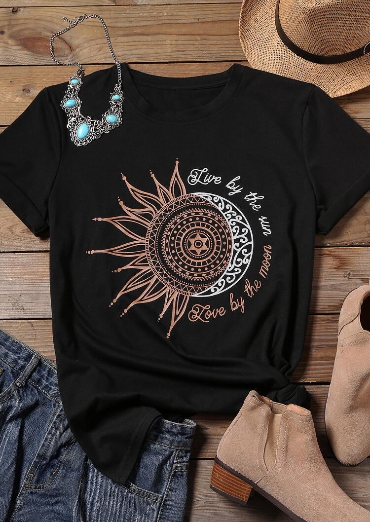 T-Shirt Yogi - Soleil et Lune - S au XL