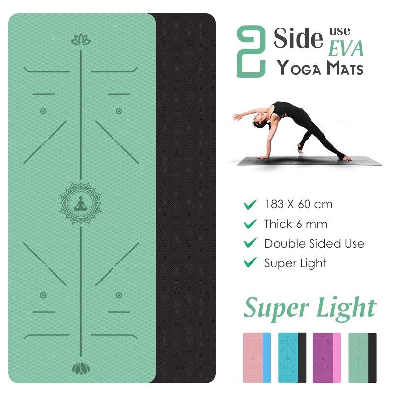 Tapis de Yoga Léger - Ligne de Position - Recto - Verso