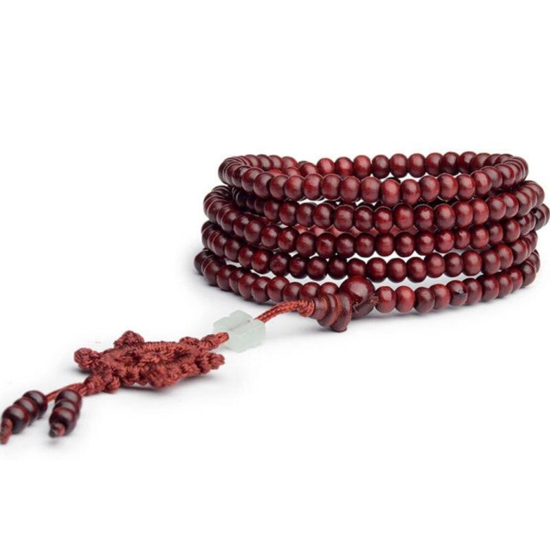 Bracelet apaisant et anti-dépressif - Bois de santal - 216 Perles Mala - 2 Couleurs