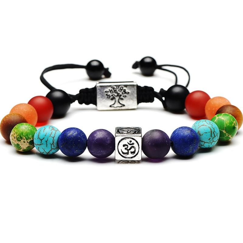 Bracelet 7 chakras porte bonheur