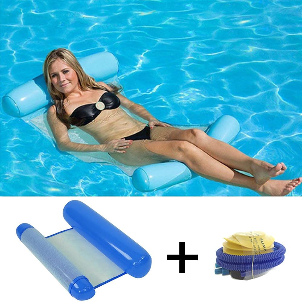 Lit flottant gonflable pour piscine avec sa pompe à air