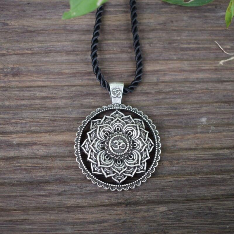 Pendentif Mandala Fleur - Indien -  Zen Yoga