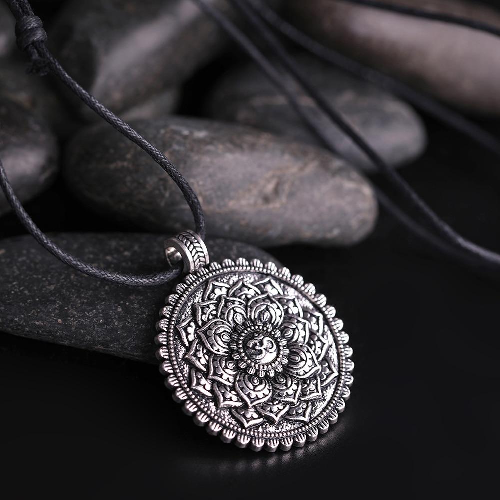 Collier pendentif Fleur de Vie - Yoga 7 Chakras