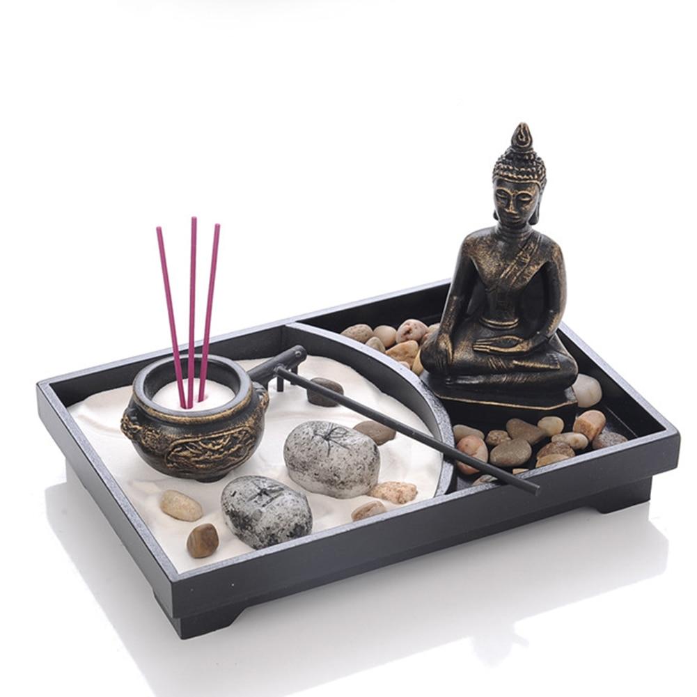 Brûleur d\'encens - Jardin Spirituel zen - Sable - Statue de Bouddha