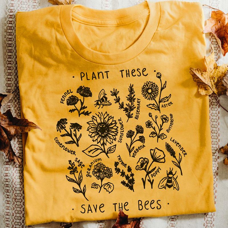 T-Shirt imprimé zen - Sauvons les Abeilles