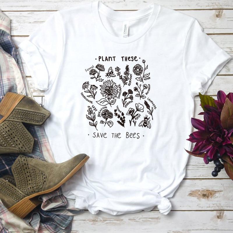 T-Shirt imprimé zen - Sauvons les Abeilles - 6 couleurs