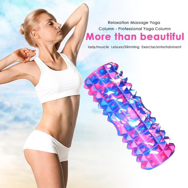 Bloc de Yoga - Rouleau de massage - Picots en Mousse - 33 CM
