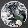 Serviette de méditation ou de plage ronde - Inspiration minérale - marbre et pierre