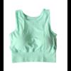 Brassière de Yoga respirante - 5 couleurs - S au L - Vert menthe