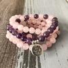 Bracelet Calme et Paix intérieur - Améthyste violet - lotus