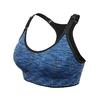 Brassière de Yoga rembourrée - Sans couture et réglable - bleu