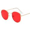 Lunettes de Soleil - Rétro - Vintage - Ronde - rouge