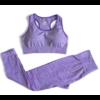 Passion yoga - Legging + Brassière sans couture et respirant - violet