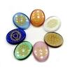 Passion Yoga 7 Pierres de Chakra Gravées - Agate de Cristal naturelle - Protection
