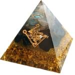 orgonite Pyramide Génératrice de Fortune - Contre les mauvais esprits - 6 cm