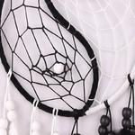 Dreamcather Capteur de rêve Yin et Yang - Plumes - Noir et blanc
