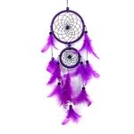 Attrape rêve Indien - Plume - Violet