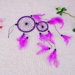 Dreamcatcher Attrape rêve Indien - Plume - Violet