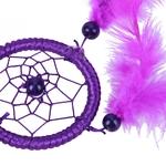 Détails Attrape rêve Indien - Plume - Violet